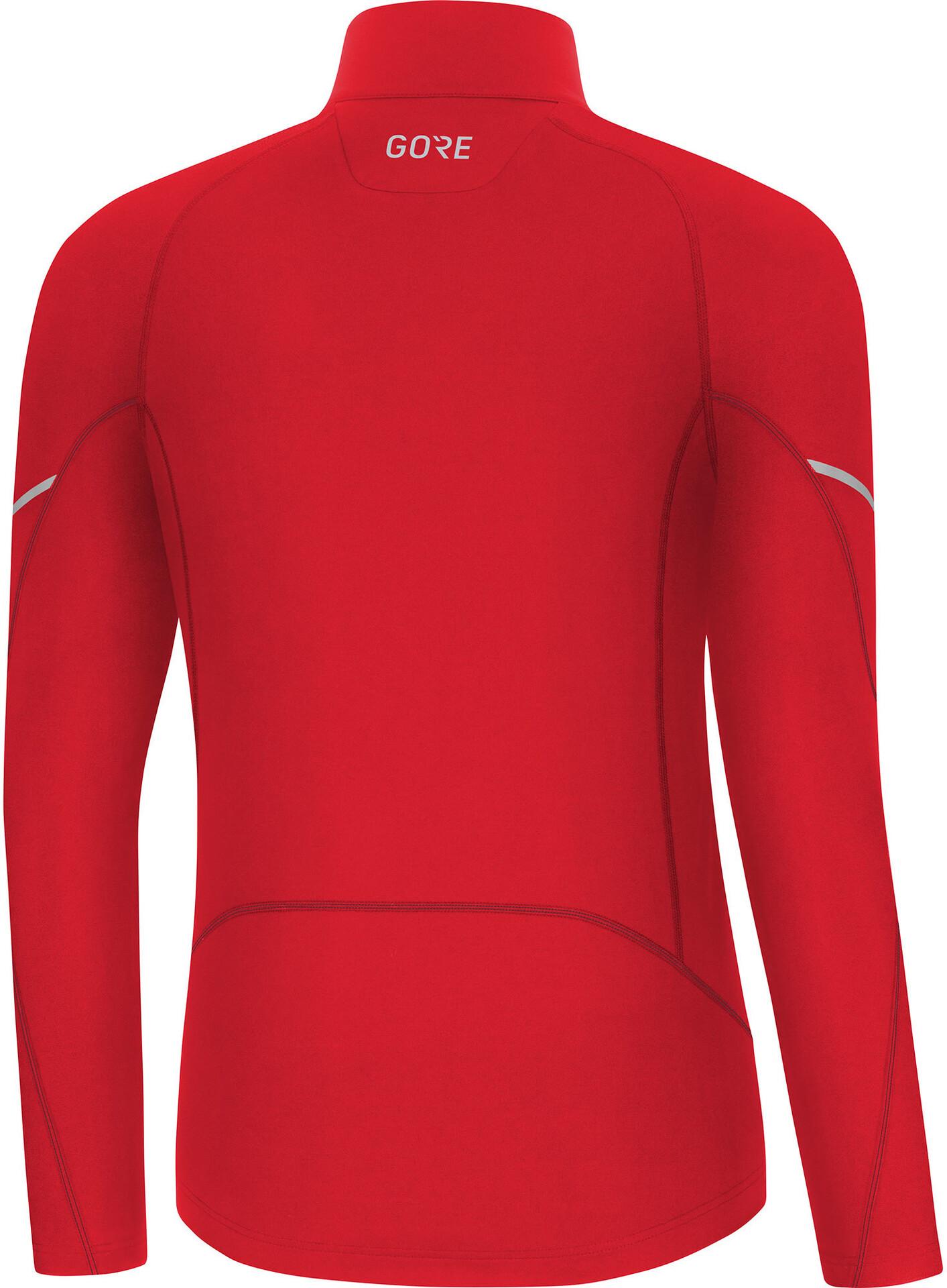 GORE WEAR M Mid Langarm Zip Shirt Herren red
